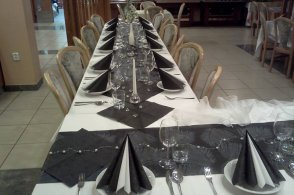 funeral table setting